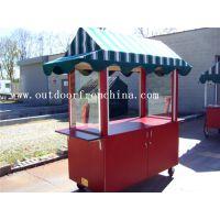 商业街实木防腐售货屋 木质移动奶茶车 实木防腐售货车