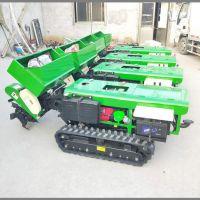 果园施土杂肥开沟施肥机 果树开沟施肥机 启航履带式自走式旋耕机