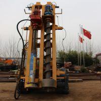 装载式电线杆打桩机,高效率公路护栏打桩机