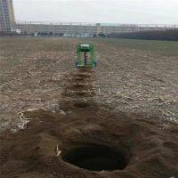 手推架子式植树挖坑机 单人便携式打坑机 农友机械