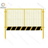 【临边护栏】聚光厂家直销黄黑喷塑建筑工地防护围栏