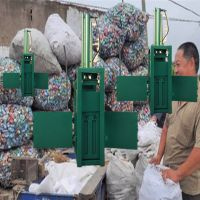 棉花棉絮纸边液压打包机 废纸箱编织袋打包机 启航牌立式液压布料打块机