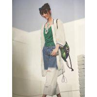 广州女装折扣公司,精品折扣品牌女装,棉麻大码连衣裙