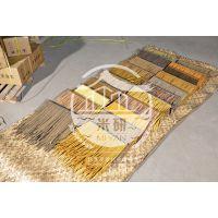 广东汕头市真茅草作为新型屋面的装饰材料。设计、型号、安装说明