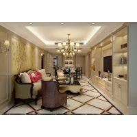 金科世界城装修案例 茶园洋房现代美式风格设计