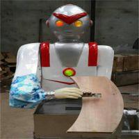 大同奥特曼刀削面机 自动刀削面机器人的使用方法