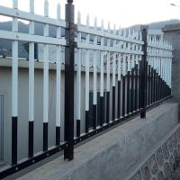 钿汇鑫筛网主营产品厂区锌钢护栏铁艺护栏1.5*3米白色小区隔离锌钢栅栏