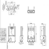 MICRO 沉板贴片式公头4P前五后四90度贴片SMT有柱长体14.65mm