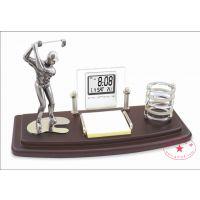高尔夫纪念品定制 木质合金纪念礼品 高尔夫周年庆纪念礼品 办公用品摆件