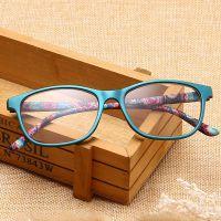 潮流时尚新款年轻态PC全框眼镜老花镜男女通用高清树脂眼睛弹簧脚