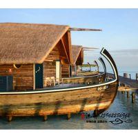 那里有大型观光船 电动画舫船水上餐饮休闲娱乐设施