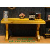 简约现代餐厅长条桌 家用全实木餐桌 西餐厅创意实木桌子可定制