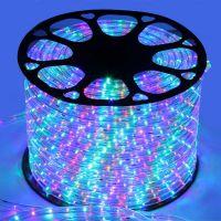 制作LED灯光节造型灯带 LED圆二线 220v彩虹管 户外防水
