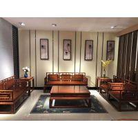 苏作明式家具名琢世家刺猬紫檀明式沙发6件套全国批发