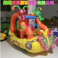 山东枣庄儿童充气电瓶车,摆摊卡通气模电瓶车双人座位那种多少钱?