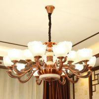 舞钢市餐厅云石吊灯吊灯大全 法式铜灯 酒店欧式吊灯