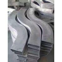 供应定制俱乐部装饰材料波浪弧形造型铝方通吊顶天花