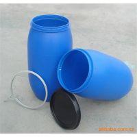 200L大口包箍皮革化工塑料桶 山东晟普200公斤HDPE染料桶生产厂家