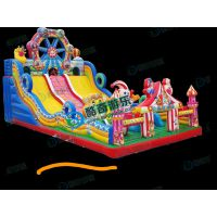 儿童滑梯厂家滑滑梯海底世界充气玩具游乐设备