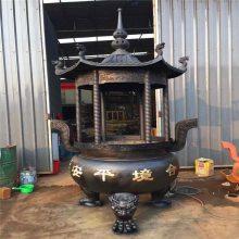 寺庙铸铁四龙柱香炉定做 寺院六龙柱香炉铸造生产厂家