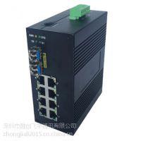 供应飞宇FLY-IMC-2F4F4GT 工业级千兆2光4光4电交换机