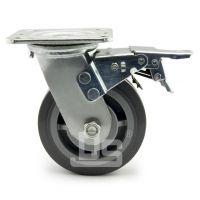 大世脚轮 TPE弹性体静音耐磨推车轮 双轴承耐用弹力脚轮 不留痕超静音