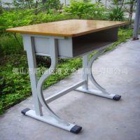 GW-C02畅销学校课桌椅 学生桌椅生产厂家 单人位金属课桌椅