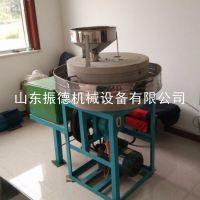 定制 粗粮加工面粉机 小麦燕麦电动石磨机 振德牌 电动石磨面粉机