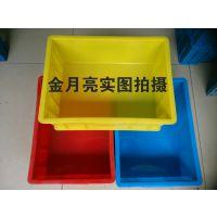 供应合肥塑料周转箱,全新料加厚7#物料箱 通用HDPE包装塑料箱