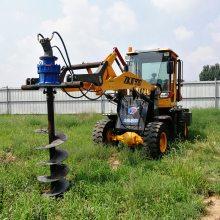 高品质拖拉机钻坑销售 4102柴油机光伏打桩机 洪涛电力 厂家直销