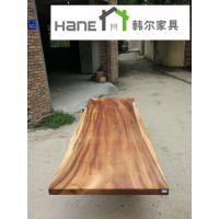 工厂定制复古餐厅桌子 长桌尺寸 上海韩尔家具厂