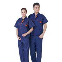 夏季工作服短袖工装定制 广州工程工作服制 纯棉吸汗工装供应厂家