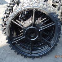 工厂大量供应直径1.1米高 农用打药机插秧机实心一体轮胎 可定做