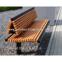供应公园木质铸铁长椅 木质休闲椅 靠背椅