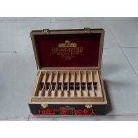 雪茄烟木盒实木雪茄包装盒美国雪茄盒定做生产