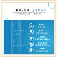 超声波懒人电动牙刷防 充电防水智能硅胶牙刷 礼品定制 单5个牙刷头 雅诗碧欧