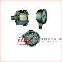 BLDYTN-053.ZO.513充油耐震压力表 轴向铜内机充液0.1-25MPa