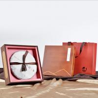 广州义统包装见山见水 357g普洱饼 白茶生熟普竹质茶叶礼盒包装定制批发厂家