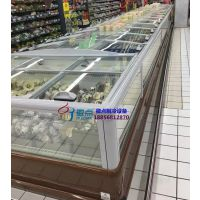 乌鲁木齐定做双岛柜,超市风冷速冻食品展示柜,徽点超市冷柜厂家
