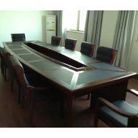 批发油漆会议桌会议室大型磨砂开会长桌中式3-6米现货洽谈桌办公家具可定制