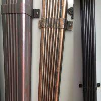 无锡彩铝落水管金属方形雨水管屋檐接水槽排水系统