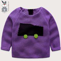 儿童针织套头衫外套全棉材质环保A类可贴身标准秋冬季新款 婴幼儿针织毛衣厂家