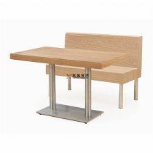 甘肃汉堡店家具订做,汉堡店板式现代卡座桌子