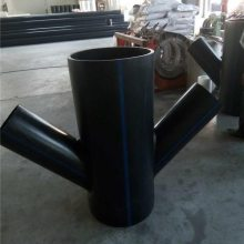 聚乙烯材质PE斜四通管件制作加工