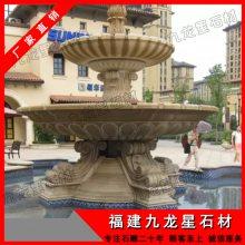 景观黄锈石水钵 做一套石雕水钵喷泉贵吗 惠安石材水钵市场行情