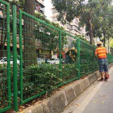 肇庆园林绿化中央隔离网_pvc铁丝网护栏价格_广州护栏网厂家