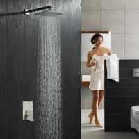 绮美斯入墙式淋浴304不锈钢方形酒店洗浴冷热水器卫浴喷头浴室暗装雨淋顶喷花洒套装