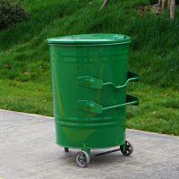 河北绿美生产垃圾车专用240升240L圆形方形垃圾车垃圾箱