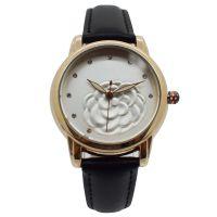 2017年新款女式时尚锌合金真皮表带手表