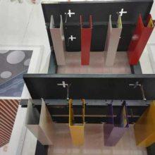 厂家定做仿木纹铝方通吊顶 铝合金U型槽方通集成天花吊顶材料